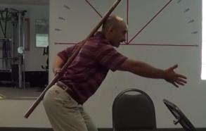 forward reach with neutral spine